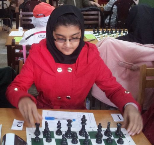 Mobina Alinasab (U14 Girls Champion)