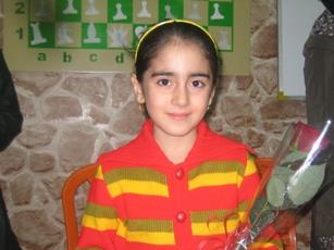 Nazanin Mohammad Nezhad (U8 Girls Champion)
