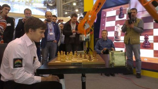 Sergey Karjakin against chess robot