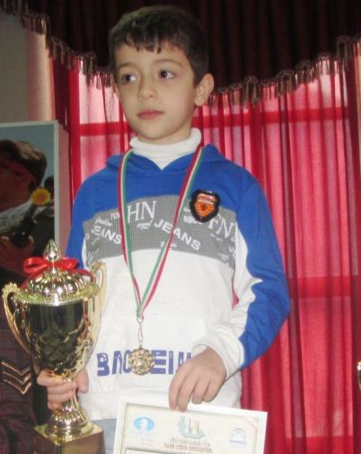 Seyed Kian Pourmousavi (U8 Boys Champion)