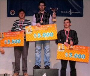 Esen (2nd), Solak (1st) and Ipatov (3rd)