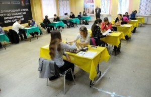 The Young Grandmasters playing hall
