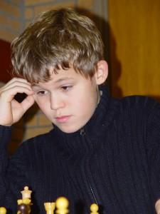Magnus Carlsen in Wijk Aan Zee 2004