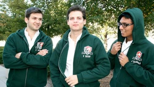 Grandmasters Cristian Chirila, Valentin Yotov, and Julio Sadorra