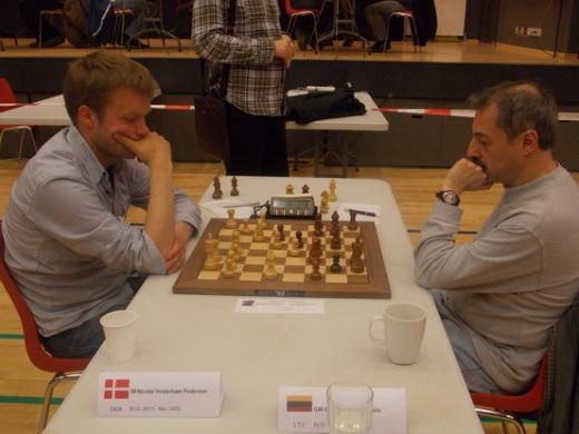 IM Nicolai Vesterbaek Pedersen beats GM Eduardas Rozentalis