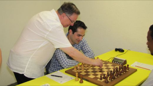 Former FIDE Executive Director David Jarrett and Grandmaster Mesgen Amanov