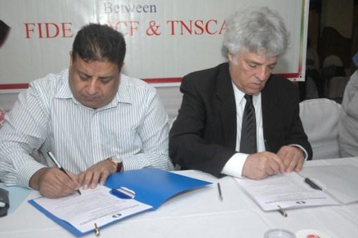 Memorandum of Understanding with the All India Chess Federation in Chennai regarding the World Championship Match 2013