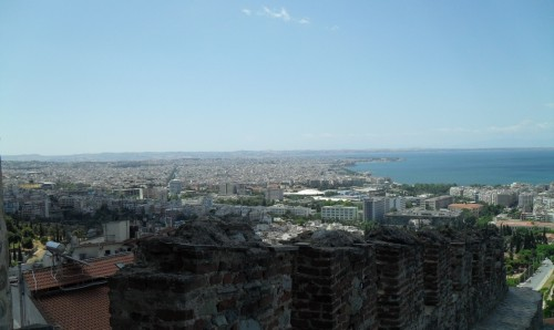Byzantine Castles are at the highest point of Thessaloniki, with the breathtaking view on the city