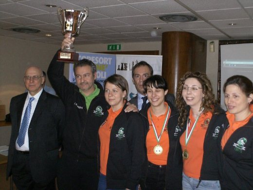 Chieti Fischer 1, the winning team at the women's tournament