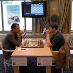 Leinier Dominguez and Peter Svidler