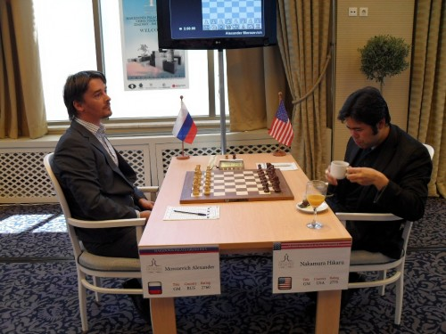 Alexander Morozevich and Hikaru Nakamura