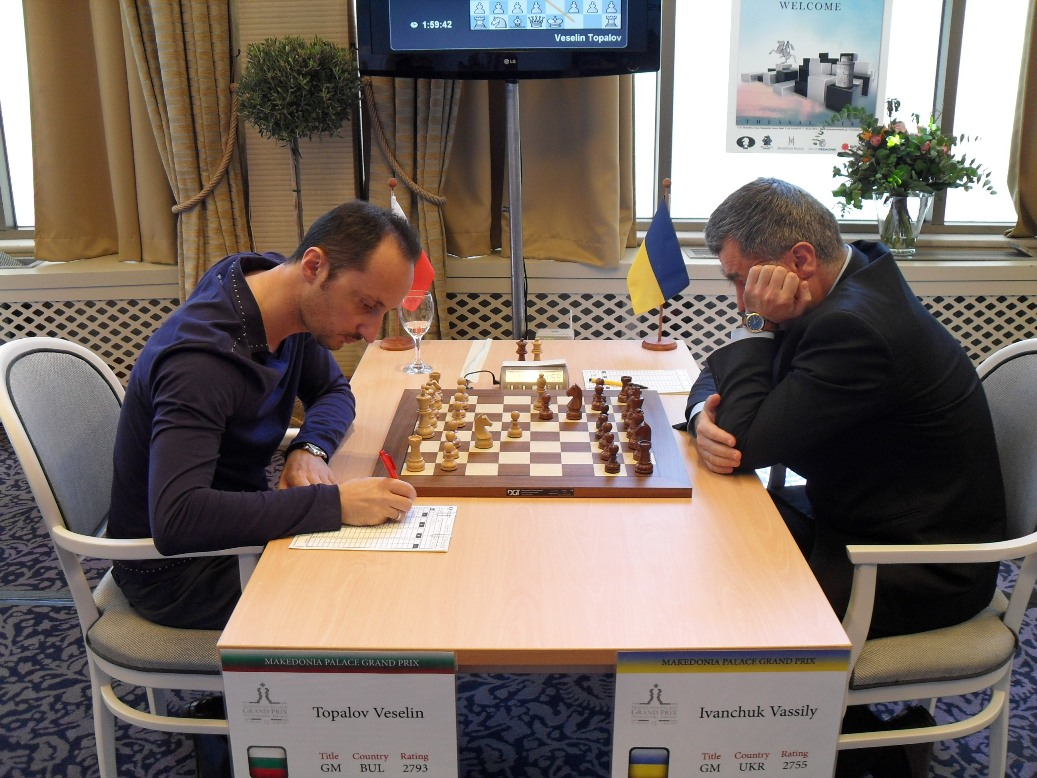 Veselin Topalov and Vassily Ivanchuk