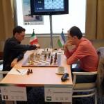 Fabiano Caruana and Rustam Kasimdzhanov