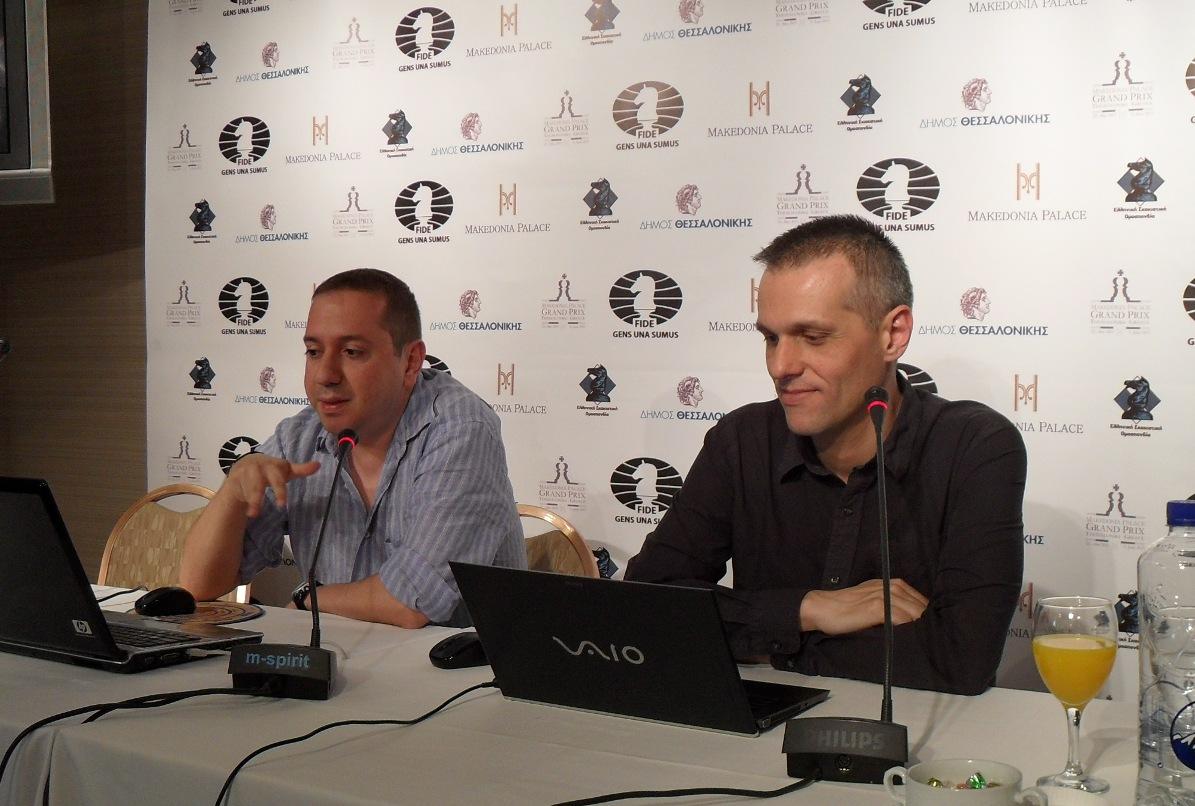 GM Ioannis Papaioannou and FM Sotiris Logothetis