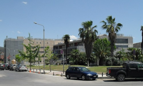 The City Hall is in the street that connects White Tower and Makedonia Palace