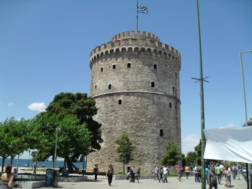 White Tower of Thessaloniki is a monument and museum on the waterfront, symbol of the city