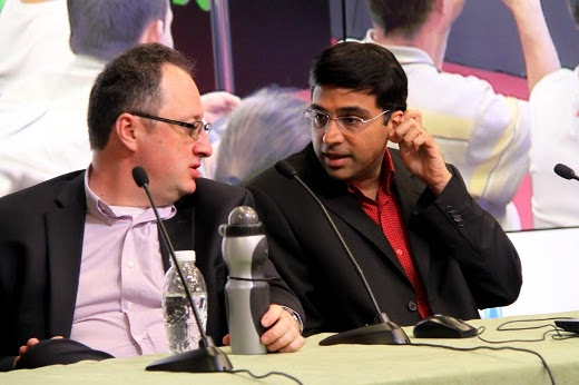 Boris Gelfand and Viswanathan Anand