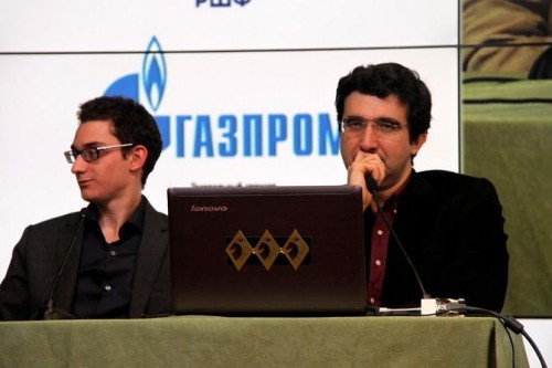 Fabiano Caruana and Vladimir Kramnik