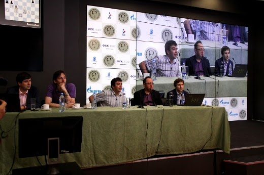 Grischuk and Svidler were among the commentators today