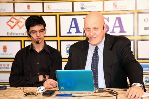Anish Giri with Leontxo Garcia