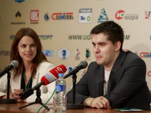 Anastasiya Karlovich and Ian Nepomniachtchi
