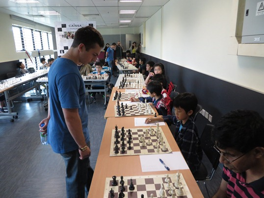 Simul and lecture at Caissa Hong Kong Chess Club 4