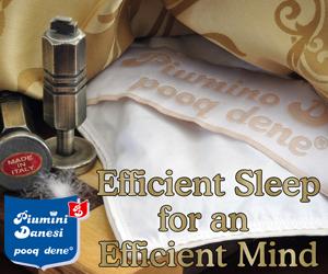 The moto of Piumini Danesi - efficient sleep for an efficient mind