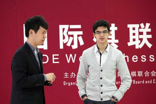Wang Hao and Anish Giri