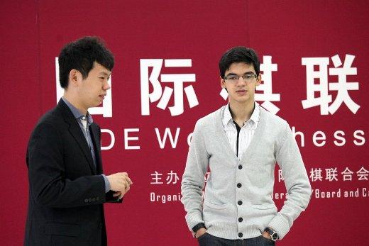 Wang Hao and Anish Giri