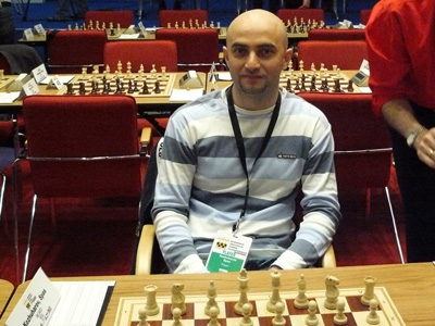 IM Kozhuharov in a game from EICC, where he made a draw with GM Grachev