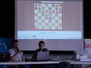 GM Eric Prié and Joachim Iglesias provided live games commentary