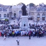 "The biggest show outside the official competition was on 16th August - a huge simul on the beautiful ""Place Stanislas"""