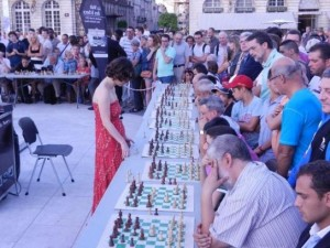 WGM Nino Maizuradze in the simul
