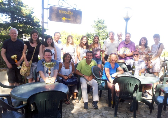 All together at La Pineta in Erice