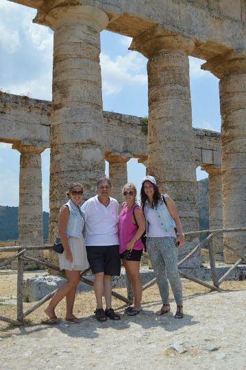 Arlette Van Weersel and friends at Segesta Greek Temple