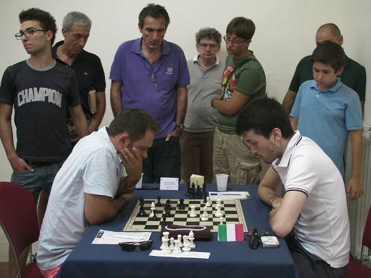 The decisive match between GM Georgiev and FM Amato