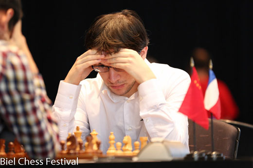 Maxime Vachier-Lagrave defeated Ding Liren with white