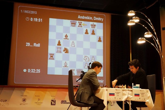 World Chess Cup Kramnik - Andreikin 3