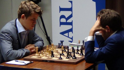 Instead, it is Carlsen who gets a chance for a full point