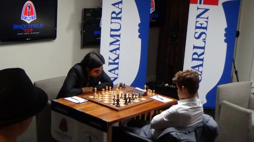 And the central battle is of course Nakamura - Carlsen