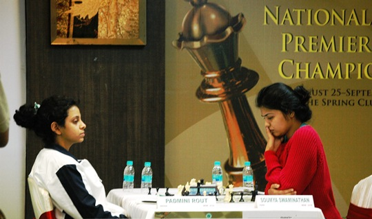 Padmini beat the leader Soumya in the final round