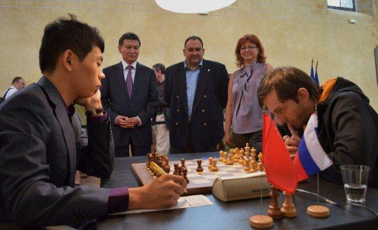 Paris FIDE Grand Prix r1 Wang Hao - Grischuk
