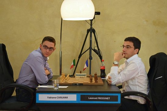 Paris FIDE Grand Prix r3 Caruana Fabiano - Fressinet Laurent