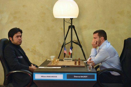 Paris FIDE Grand Prix r3 Nakamura Hikaru - Bacrot Etienne