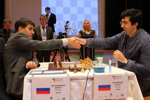 World Chess Cup Final, Vladimir Kramnik - Dmitry Andreikin