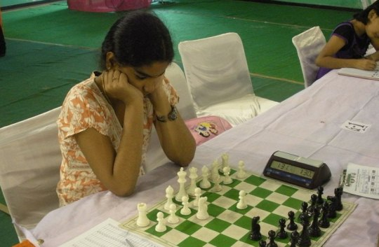 World Under-10 Girls Champion Priyanka Nutakki of AP in action