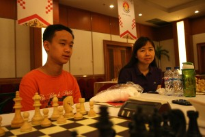 Aron Teh Eu Wen during the Indonesian Open