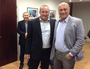 New Georgian President Giorgi Margvelashvili and Zurab Azmaiparashvili