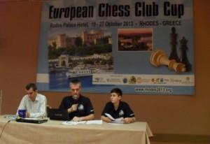 Technical meeting with Chief Organizer Nikos Kalesis and Chief Arbiter Sotiris Logothetis