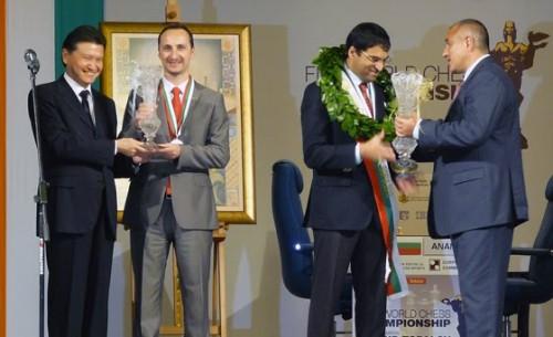 Receiving the trophy in 2010